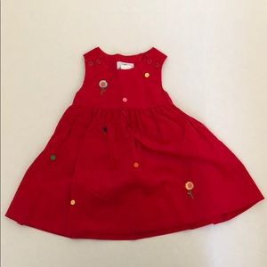 Florence Eiseman red sleeveless corduroy dress